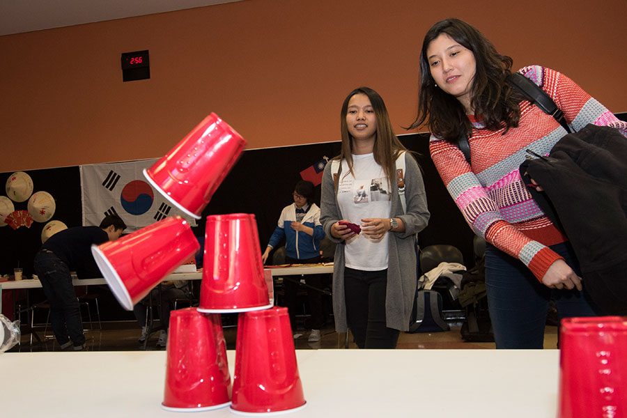 Chinese New Year game red cups